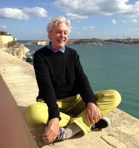 PB cross-legged in Malta